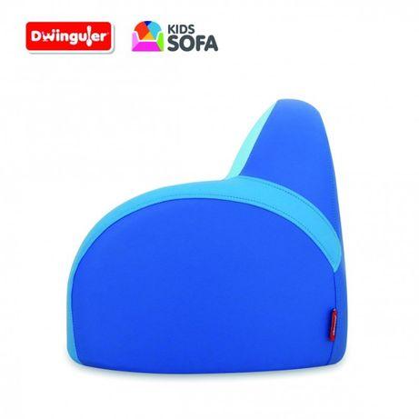 Kid Sofa Dwinguler Blue Fotel Eco-Skóra Wykonane ręcznie