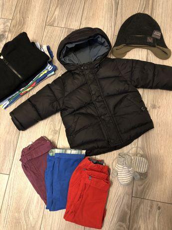 Zestaw ubrań Czarna kurtka Zara chłopięca 80 cm 9-12 miesięcy 12 sztuk
