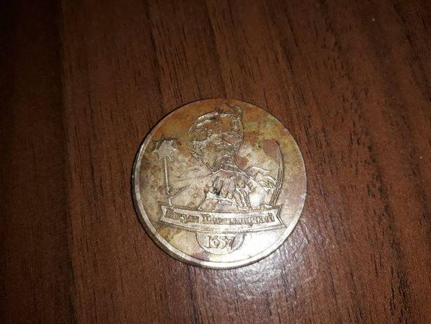 Монета Богдан Хмельницький 1657 рік
