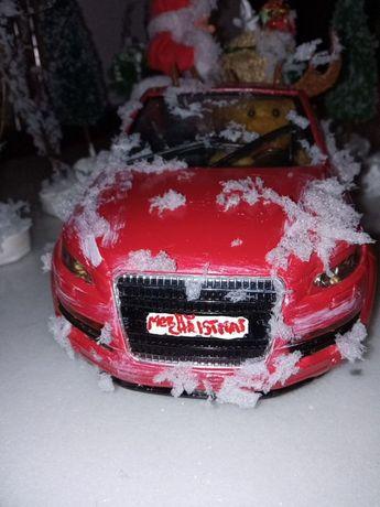 Новогодняя игрушка. Ночник.Машина и дед мороз