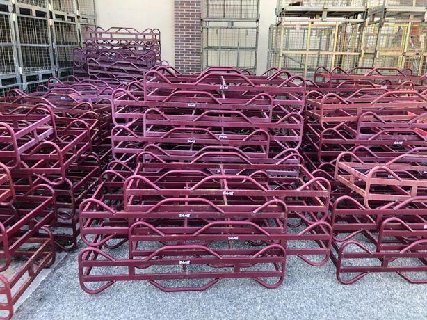 Suportes/Dormentes em metal para barricas 225L