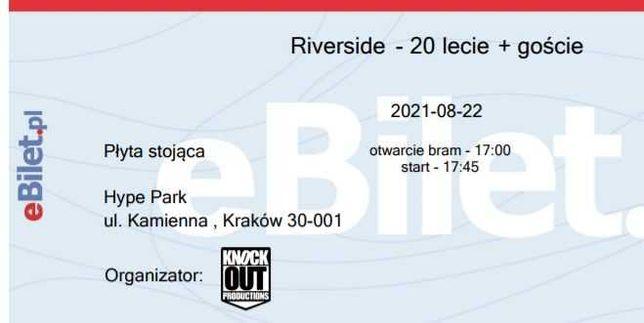 Dwa bilety na koncert Riverside w Krakowie 22/08/2021