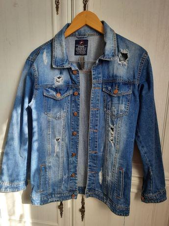 Джинсова куртка 250 грн подовжена