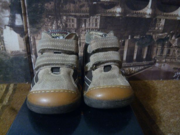 Кожаные демисезонные ботинки 21 размера для мальчиков