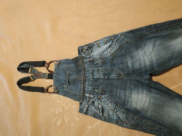 Джинсовый комбенизон б/у,джинсы