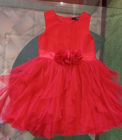 Красное платье для девочки 2-3 годика