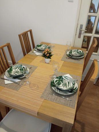 Mesa sala jantar extensível 3tamanhos (140cm,180cm,220cm)