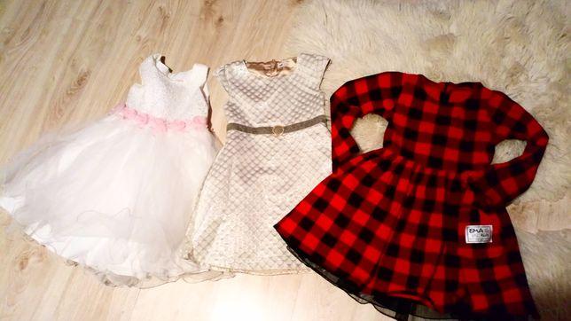 Sukienki na dziewczynke 128-6 lat