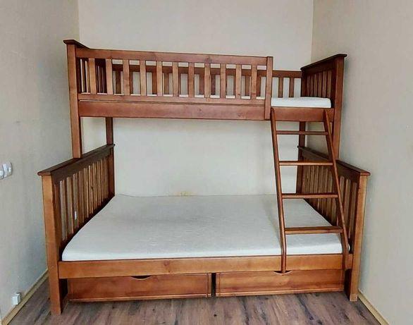 Кровать двухъярусная трехместная с матрасами и ящиками