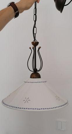 Lampa kuchenna liberty klosz ceramiczny 40 cm super stan