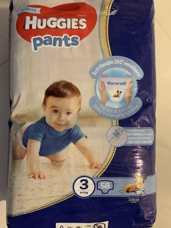Памперси Huggies 3 58 шт (6-11кг) pants для хлопчиків