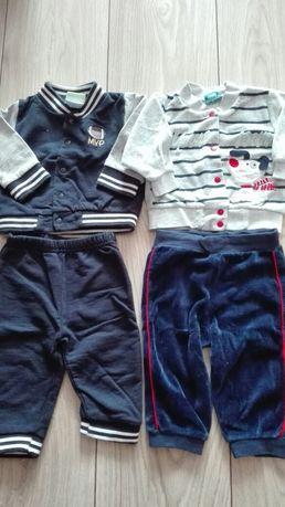 Komplety bluza + spodnie dresowe r.68