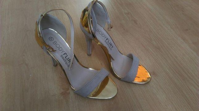 Beżowe sandały 37