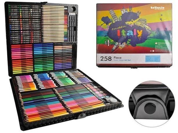 Большой набор для рисования 258ел набор для творчества живописи в кейс
