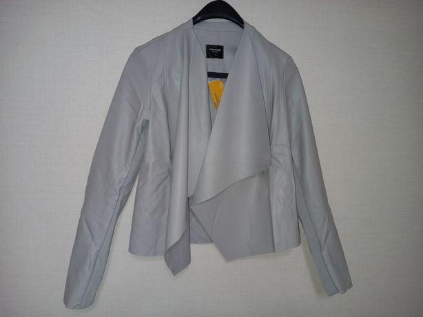 Пиджак кардиган экокожа