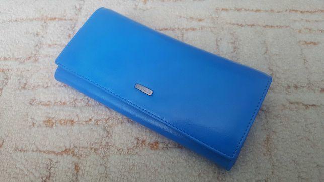 Portfel duży niebieski