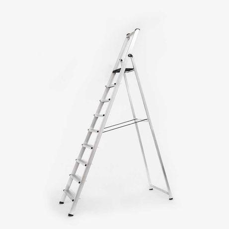 Escadote em alumínio 2 metros - novo com garantia