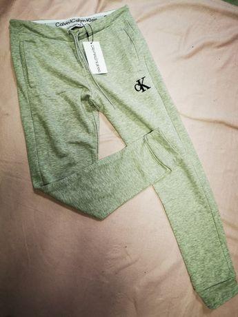 Dresy męskie Calvin Klein CK dres jasno szare nowość OUTLET premium