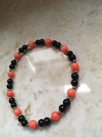 Bransoletka z koralu i sztucznych pereł