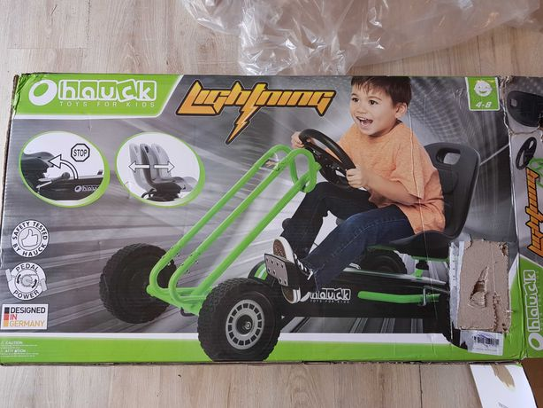 Gokart na pedały Hauck Lightning Green zielony do 50 kg