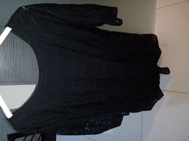 Czarna sukienka reserved 42 koronka