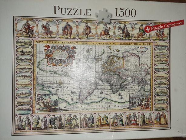 Пазлы старая карта 1500шт