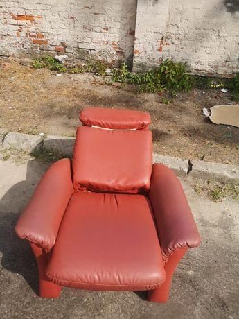 Fotel rozkładany Relax Skórka DOWÓZ DO DOMU