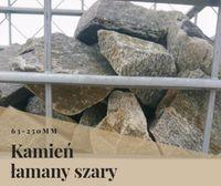 Kamień łamany 63-250mm szary: rabatki, gabiony, murki