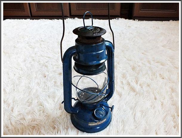 Stara lampa naftowa z USA Piękny i sprawny zabytek!