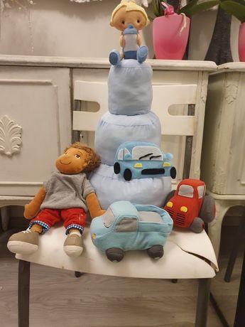 Rękodzieło tort dla chłopca zabawka akcesoria  na sesję zdjęciową