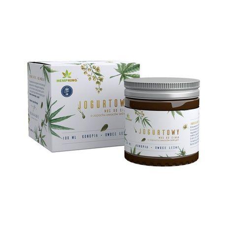 Jogutrowy mus do ciała z CBD naturalny zapach owoce leśne HempKing