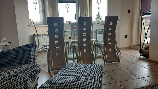 Skórzane krzesła-4 sztuki