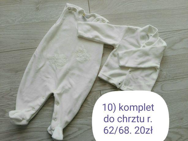 Komplet ubranka do chrztu r. 62/68
