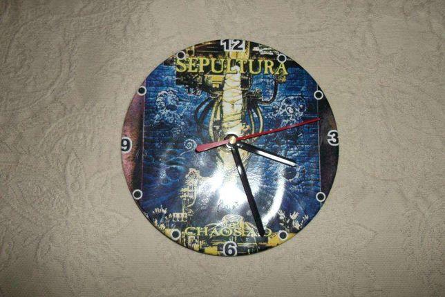 Sepultura - Chaos A.D. - Relógio de parede com 15 cm de diâmetro