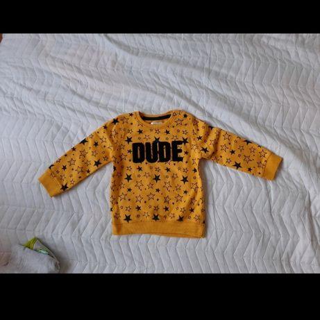 Bluza żółta zakładana przez głowę rozm 86