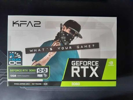 Karta graficzna KFA2 GeForce RTX 3060 1-Click OC LHR 12 GB GDDR6
