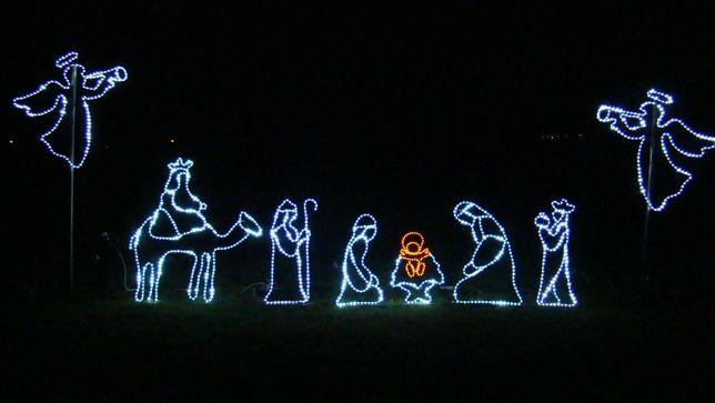 Zestaw Szopka + 3 Krolowie + 2 Aniolki ozdoby świąteczne LED