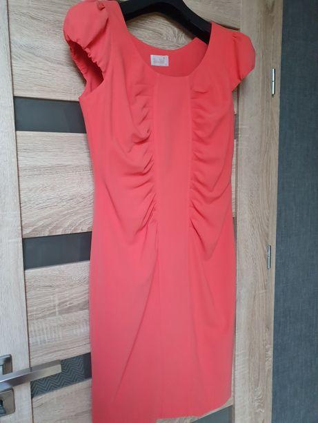 Nowa sukienka ołówkowa koralowa L