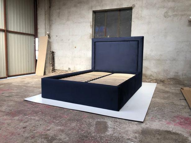 Łóżko tapicerowane velvet glamour 140/160/180 x 200 + pojemnik stelaż