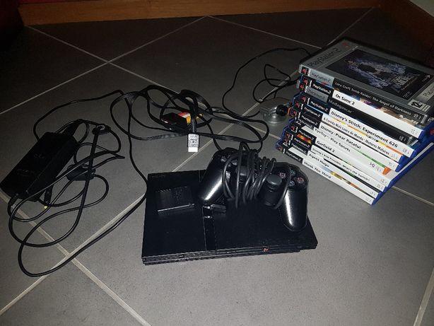 Vendo PlayStation 2 + 11 jogos + webcam toy