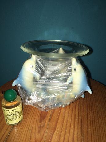 Aromatizador antigo com vela e aroma de laranja
