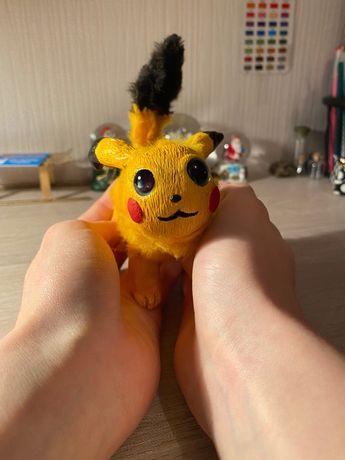 Игрушка, ручная работа Пикачу/handmade Pikachu, покемон