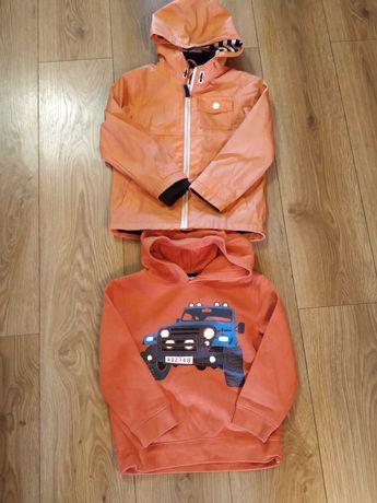 Kurtka deszczowa plus bluza z kapturem r. 116