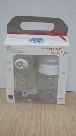 Подарочный набор стартовый бутылочка+соска+цепочка Canpol