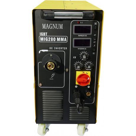 Spawarka migomat MAGNUM MIG/MAG MIG 280 MMA IGBT Gw. door to door