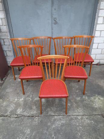 Krzesła patyczaki 6 sztuk retro vintage lata 70