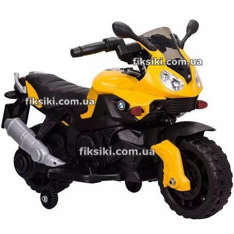 Детский мотоцикл 4080 yellow, электромобиль, Дитячий електромобiль