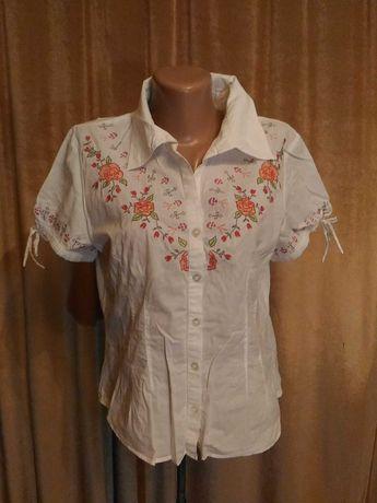 Рубашка вышиванка ручная работа, мелкий крестик, размер m