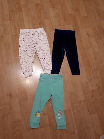 Spodnie, leginsy dla dziewczynki rozmiar 86