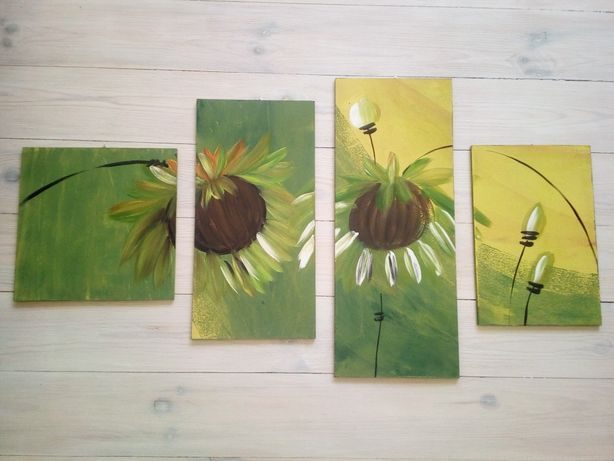 Komplet obrazów 6szt ręcznie malowanych